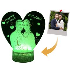 Customized heart night lamp couple gift