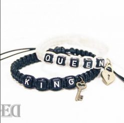 King queen rope bracelets