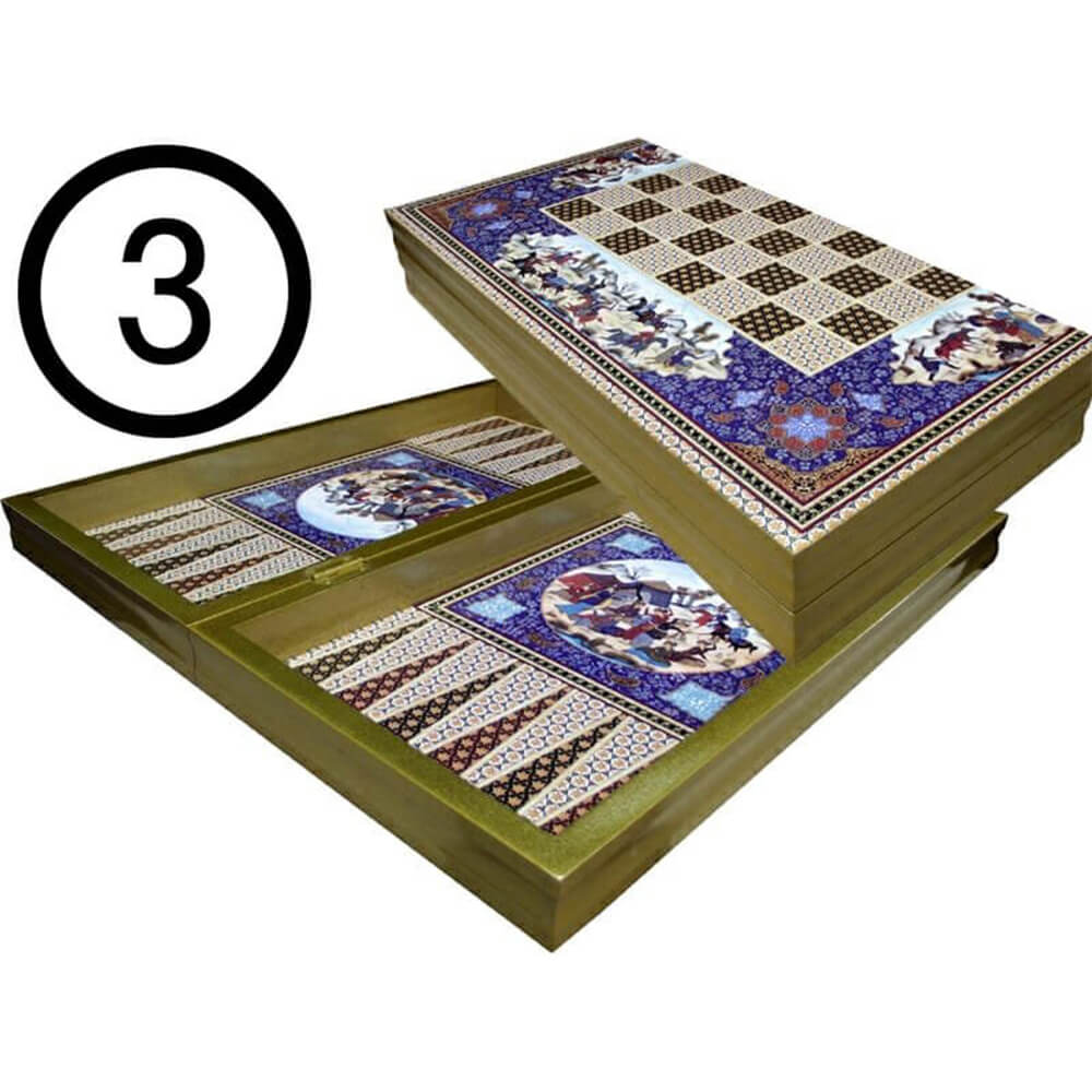 Backgammon with engraving