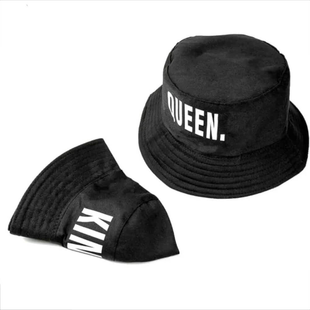 Black king and queen hat