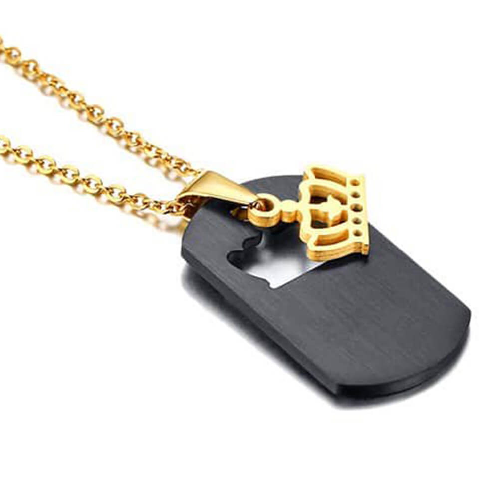Black queen necklace with crown (