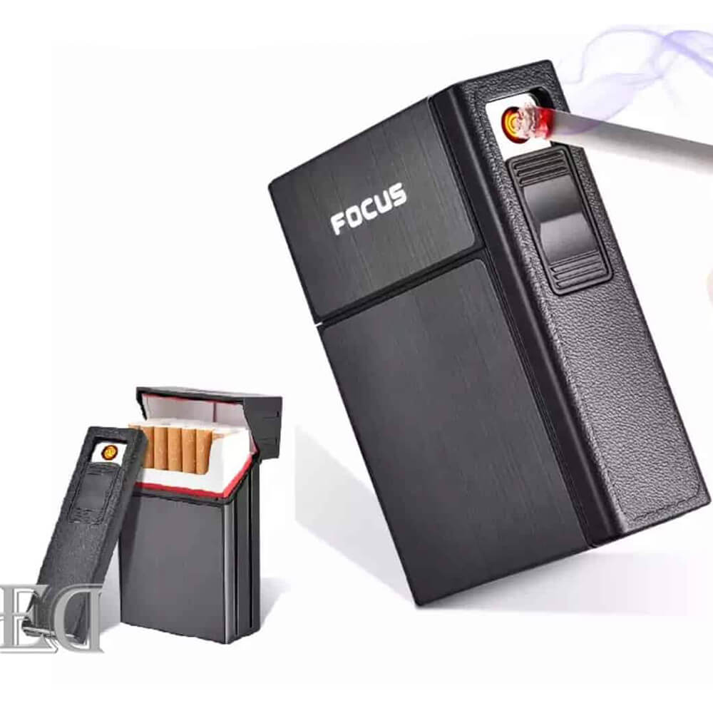 Box with electric lighter black