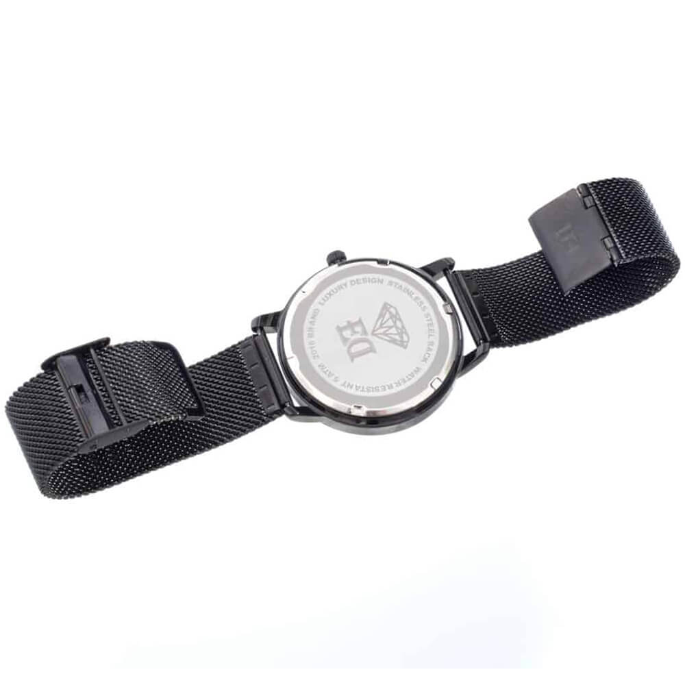 ED black wristwatch for men