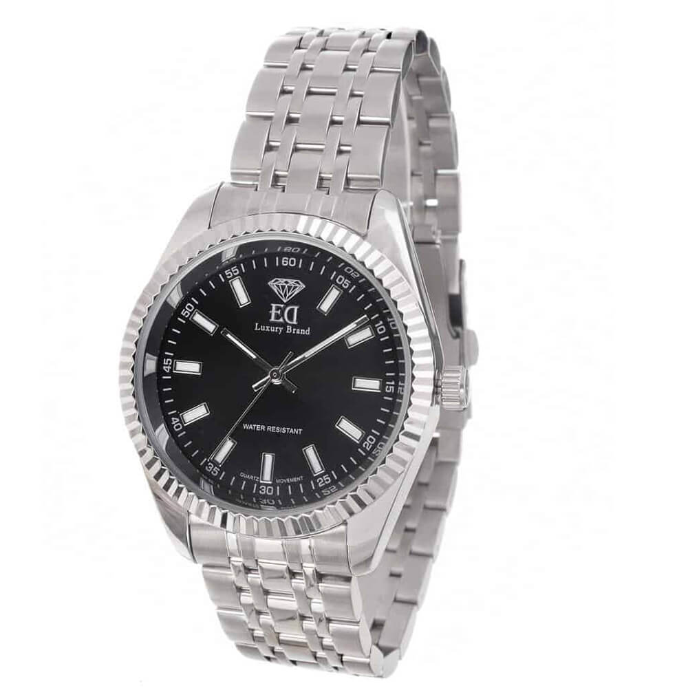 ED watch for man black silver