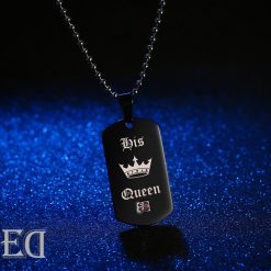 Gifts for men gifts for women king queen black necklaces-3