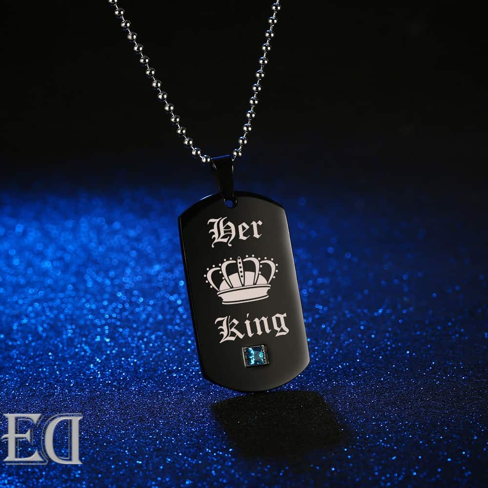 Gifts for men gifts for women king queen black necklaces-4