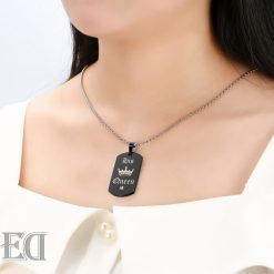 Gifts for men gifts for women king queen black necklaces-5