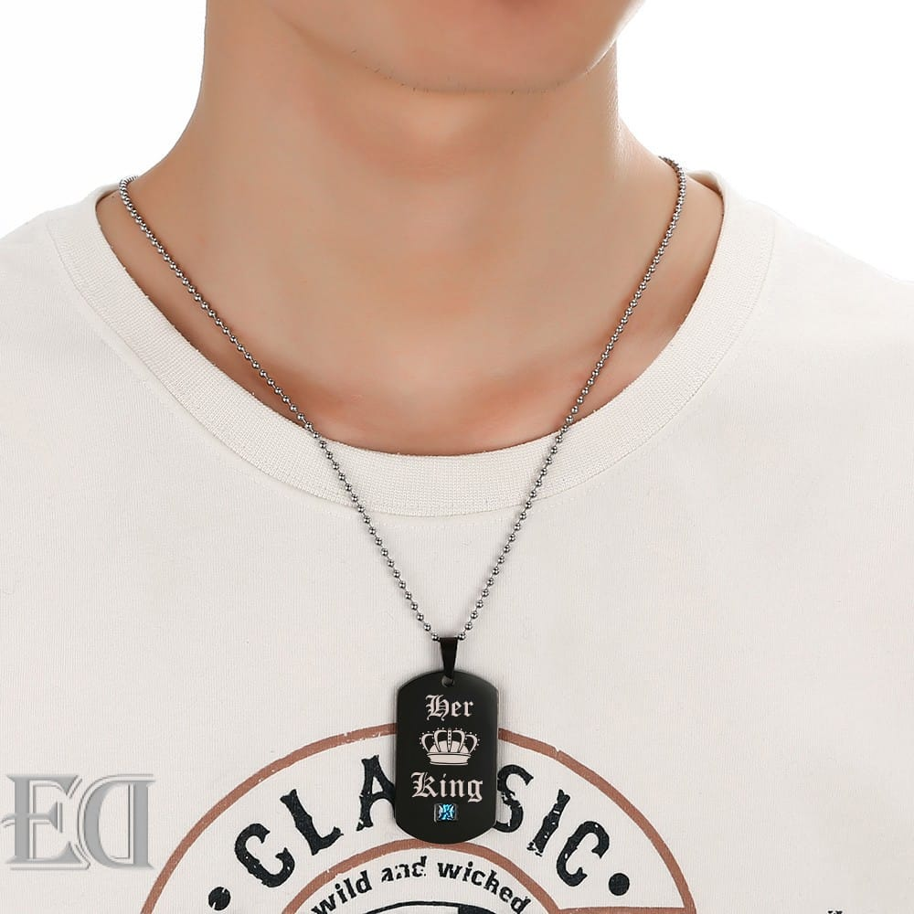 Gifts for men gifts for women king queen black necklaces-6