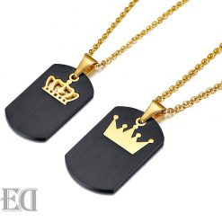 Gifts for men gifts for women king queen crown necklaces-11