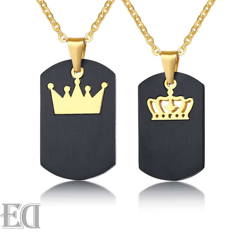 Gifts for men gifts for women king queen crown necklaces-13