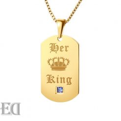 Gifts for men gifts for women king queen gold necklaces-7