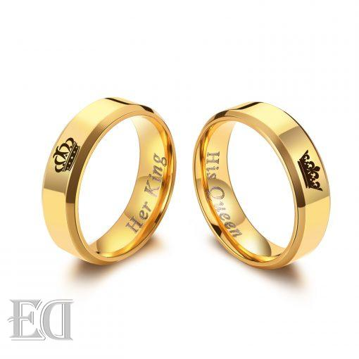 Gifts for men gifts for women king queen gold rings-1