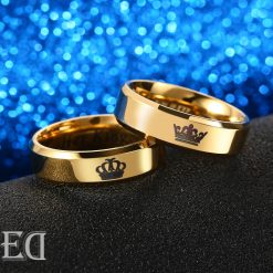 Gifts for men gifts for women king queen gold rings-2