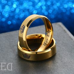 Gifts for men gifts for women king queen gold rings-4