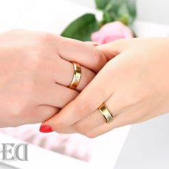 Gifts for men gifts for women king queen gold rings-5