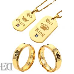 Gifts-for-men-gifts-for-women-king-queen-gold-rings-and-necklaces