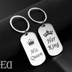 Gifts for men gifts for women king queen silver keychains-10