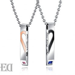 Gifts for men gifts for women king queen silver necklaces-12