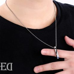 Gifts for men gifts for women king queen silver necklaces-7