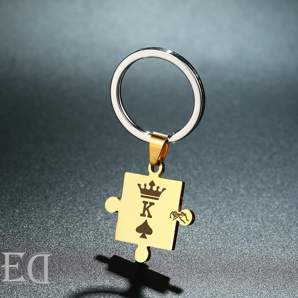 Gifts for men gifts for women king queen silver puzzle-3