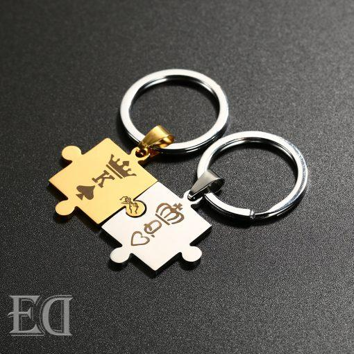Gifts for men gifts for women king queen silver puzzle-7