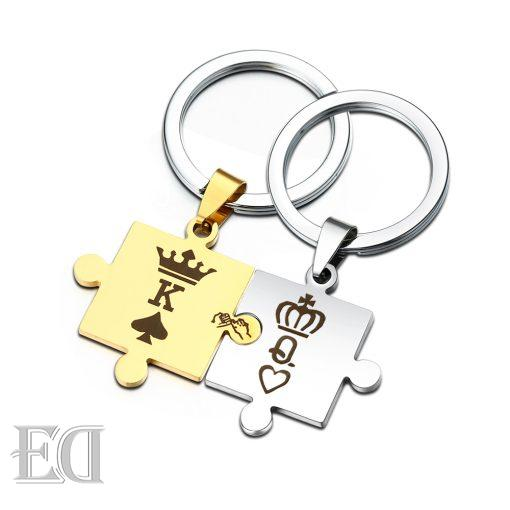 Gifts for men gifts for women king queen silver puzzle-9