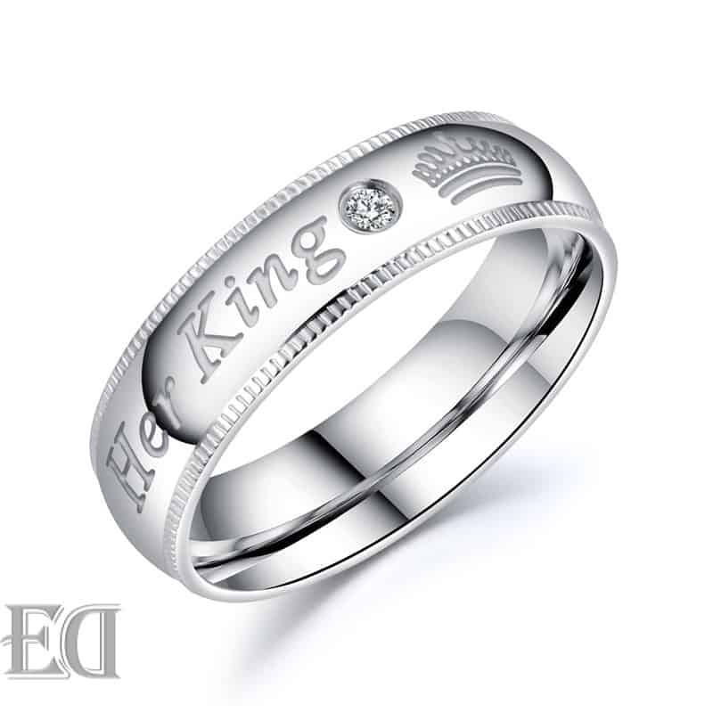 Gifts for men gifts for women king queen silver rings-21