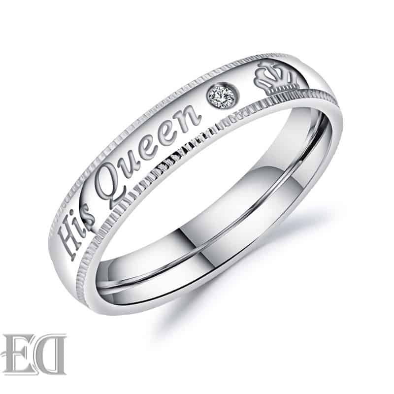 Gifts for men gifts for women king queen silver rings-22