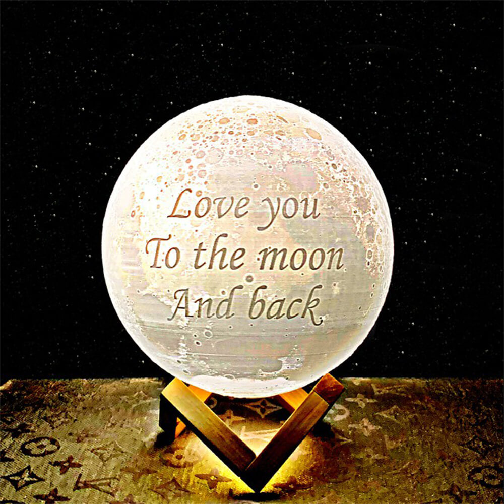 Good night moon lamp my love