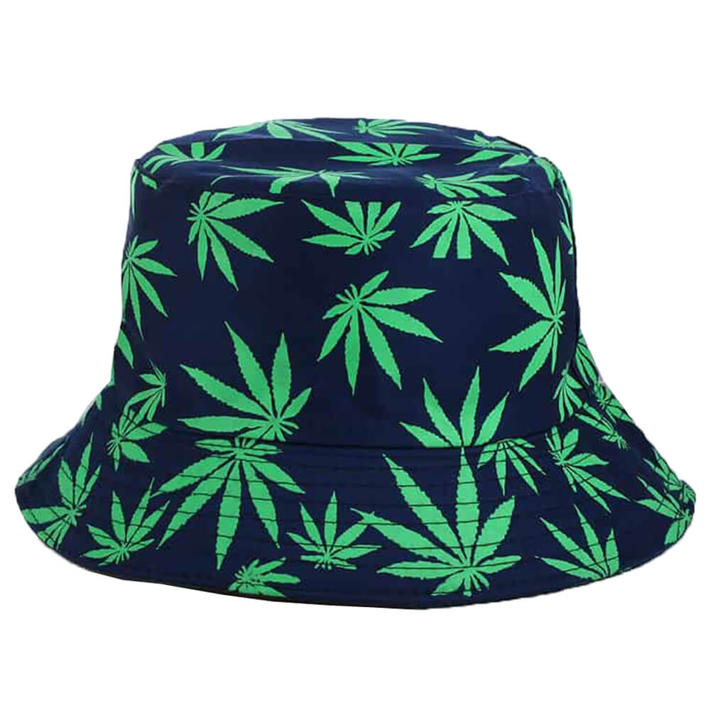 Hat with a cannabis drawing