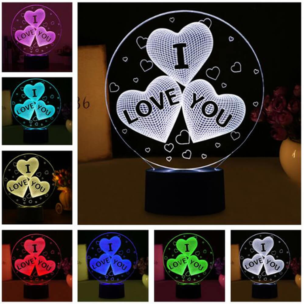 I love you 3 hearts night light changing colors-1