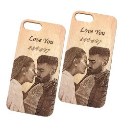 Customized Engraved wood phone case