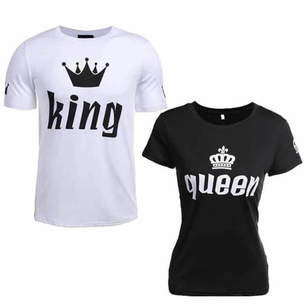 King and Queen short shirts for a couple