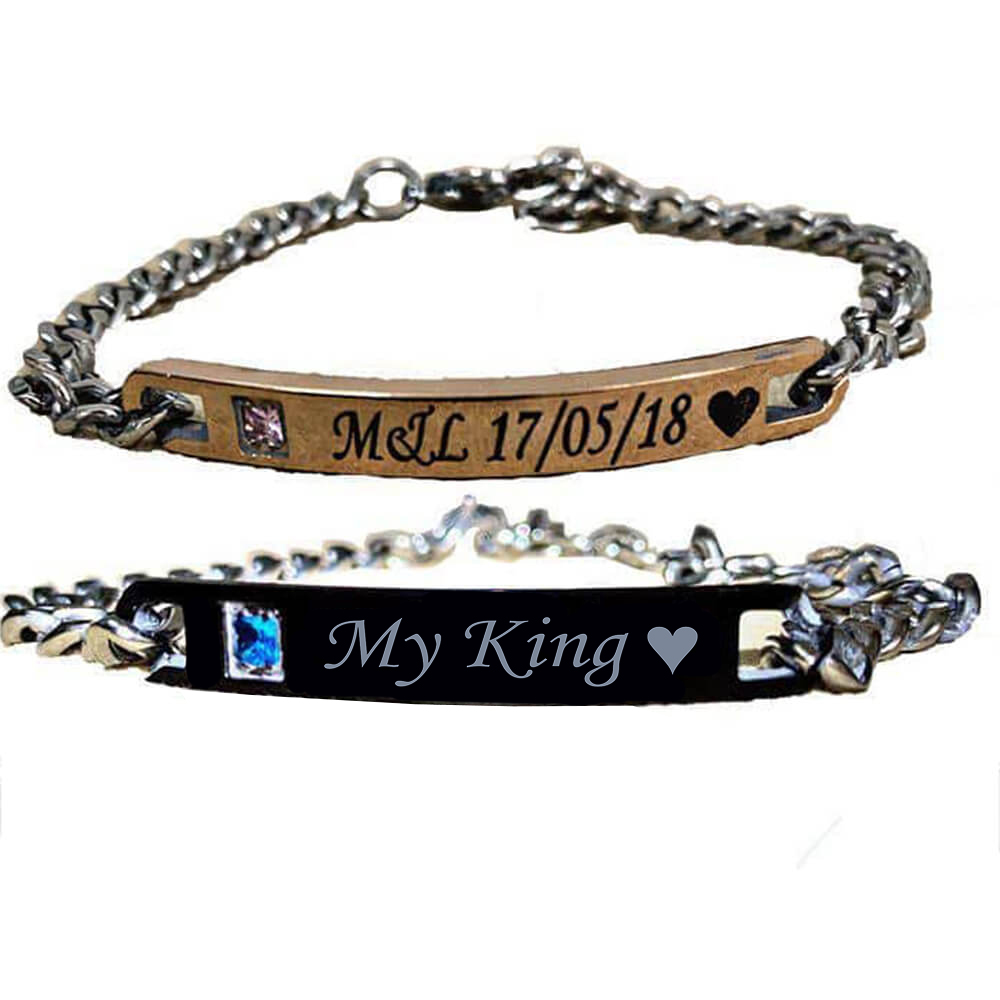 King queen custom bracelet