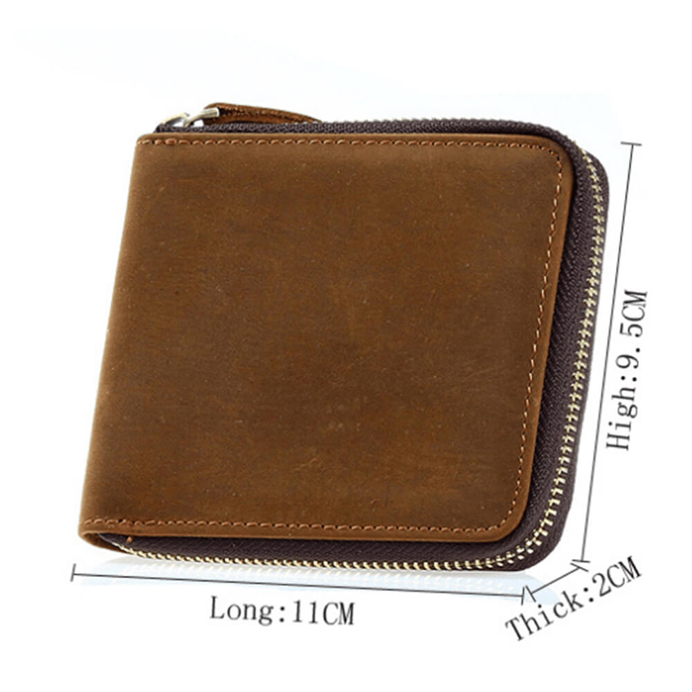 Leather wallet with photo engraving