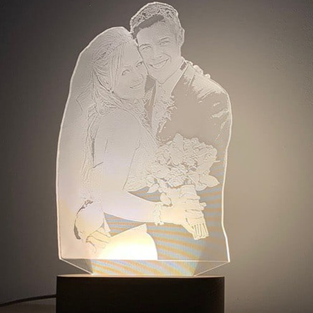 Night lamp with a picture