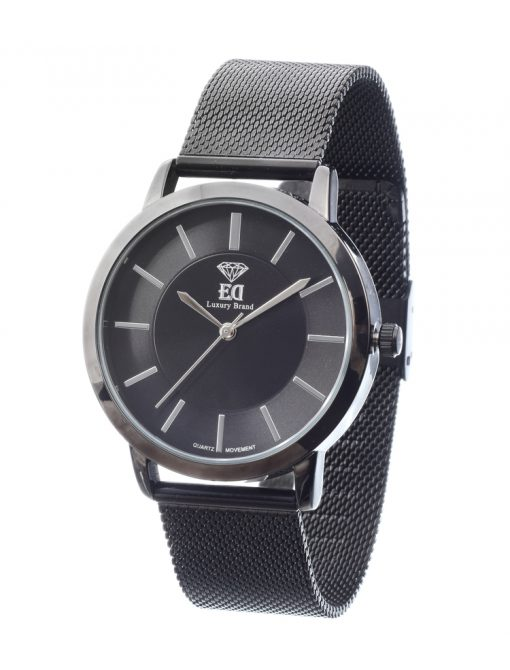 Premium ED men Women Unisex watch black gold silver-13