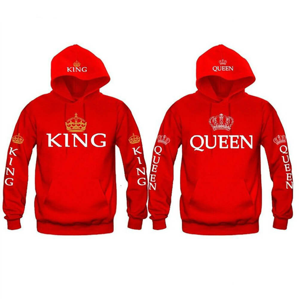 Red King and Queen hoodies
