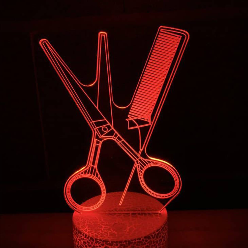 Scissors and comb night light