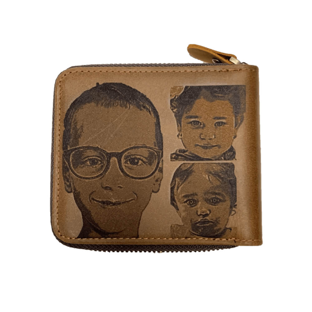 Wallet with engraved child counter