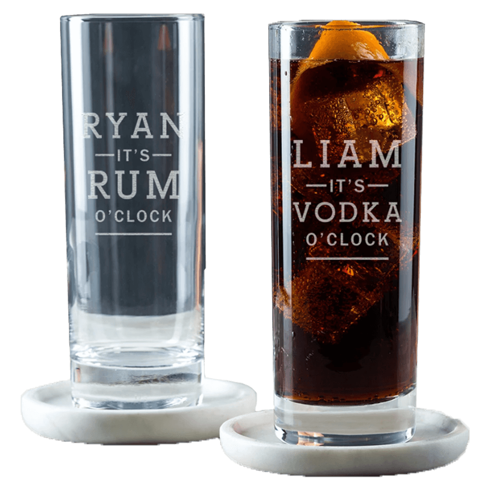 Whiskey glasses with engraving