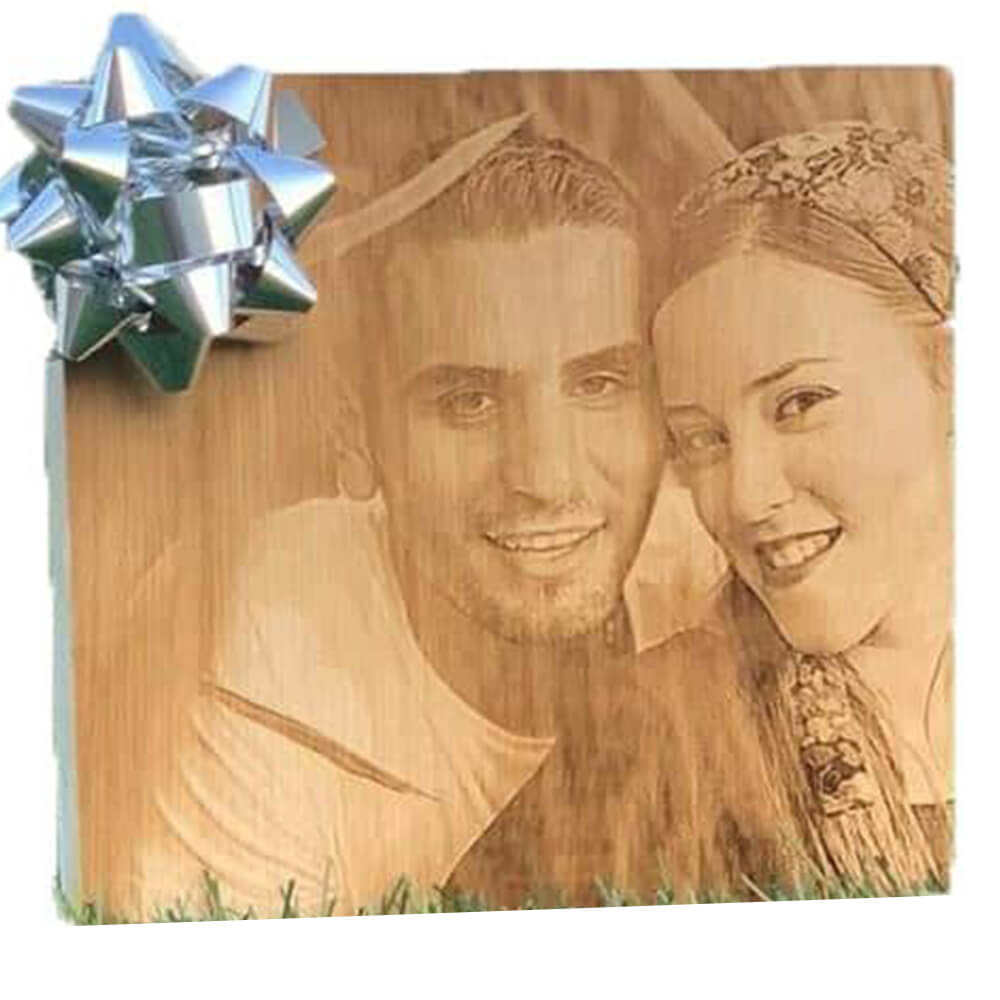 Wooden block with picture