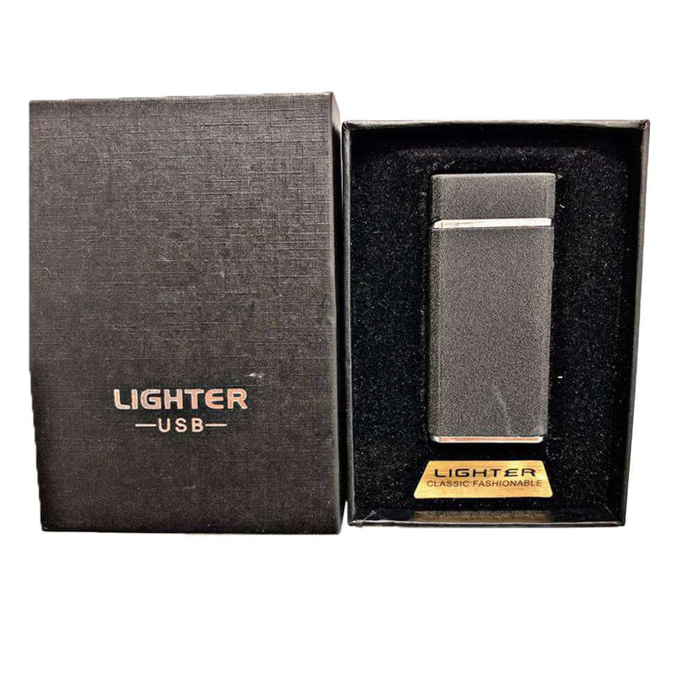 black electric lighter with engraving-2