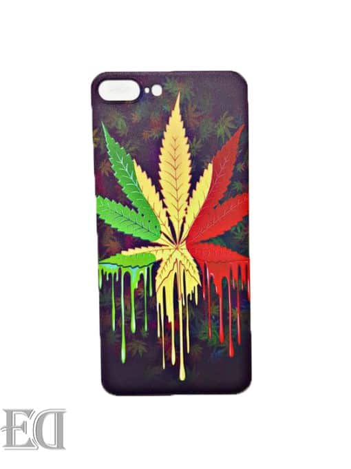 colorful cannabis phone case