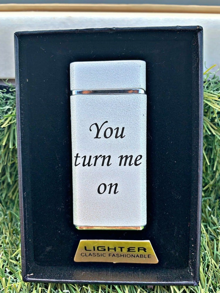 couple gifts engraved customized lighter you turn me on-1