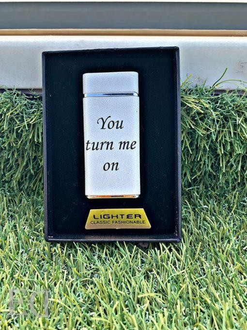 couple gifts engraved customized lighter you turn me on-2