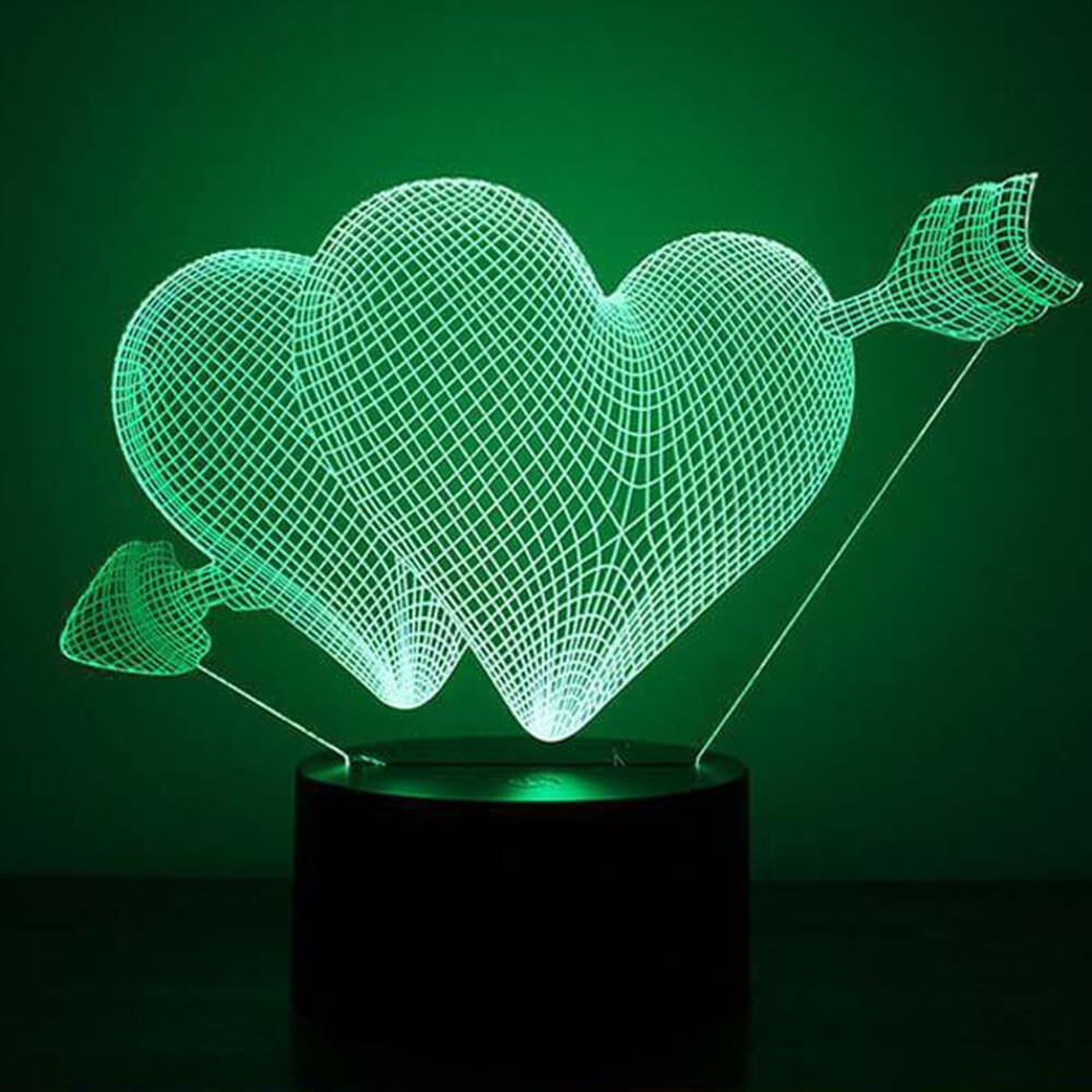 cupid heart night light changing colors-5