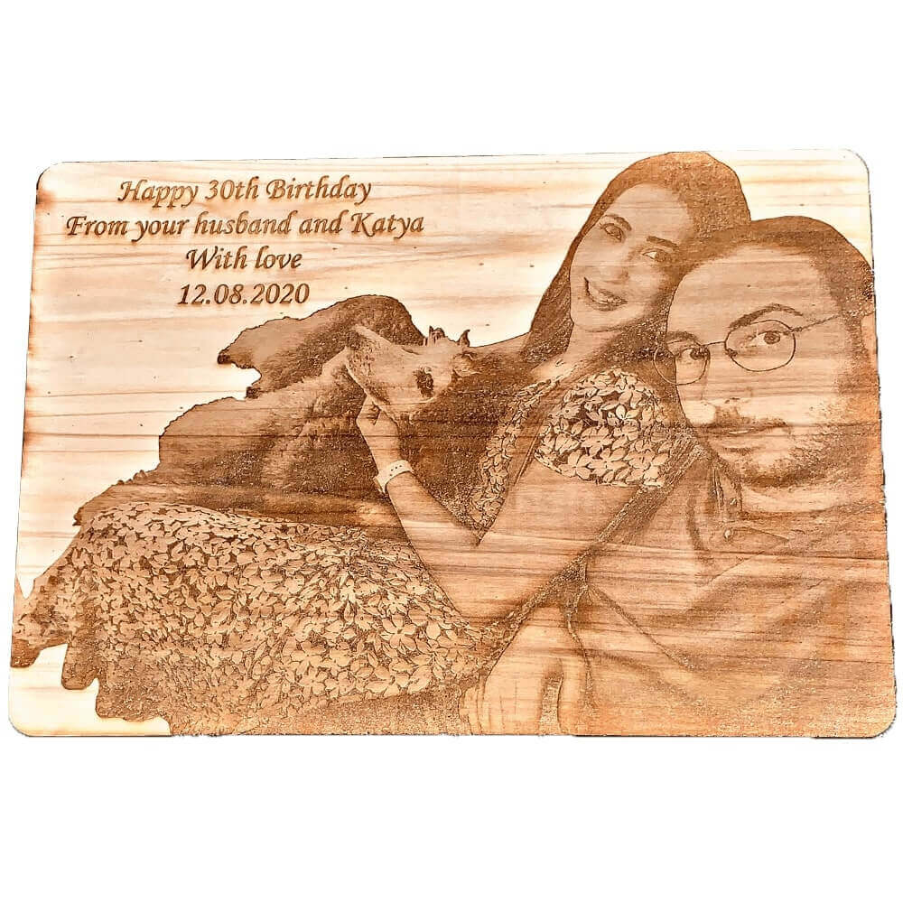 custom wooden engraved image