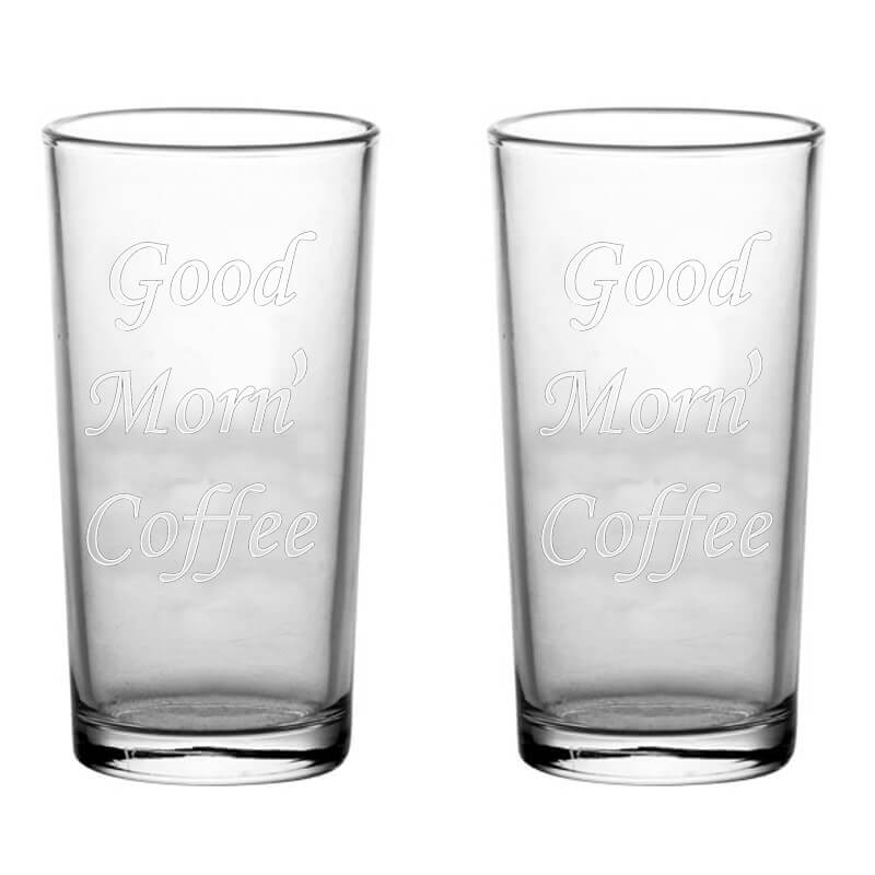 engraved coffere glasses