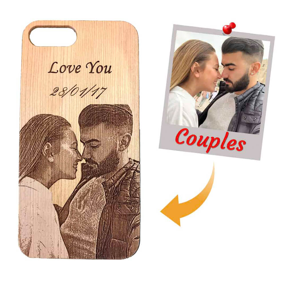 engraved phone case with image